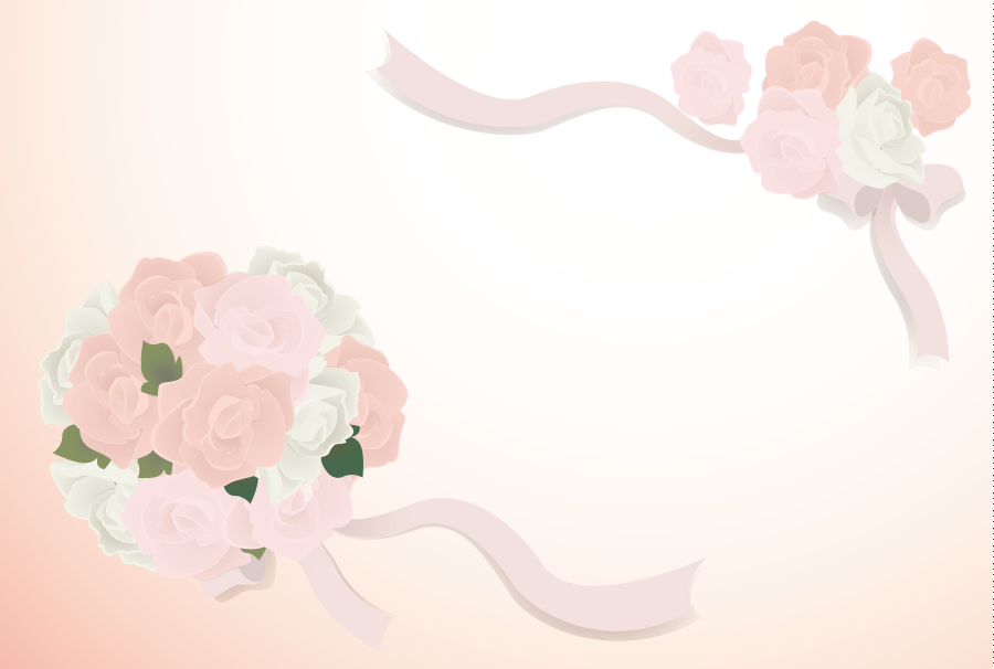 フリーイラスト 結婚式のブーケの飾り枠