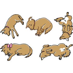 フリーイラスト, ベクター画像, AI, 動物, 哺乳類, 犬(イヌ), 寝る(動物)