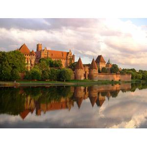 フリー写真, 風景, 建造物, 建築物, 城, 河川, 世界遺産, ポーランドの風景