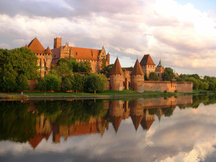 フリー写真 マルボルク城の風景