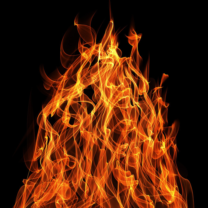 フリーイラスト 燃え盛る炎