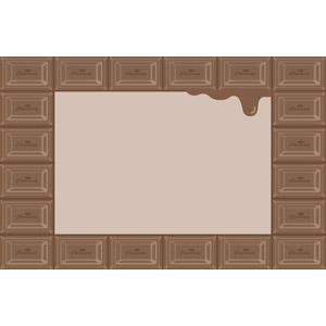フリーイラスト, ベクター画像, AI, 背景, フレーム, 囲みフレーム, 食べ物(食料), 菓子, 洋菓子, チョコレート