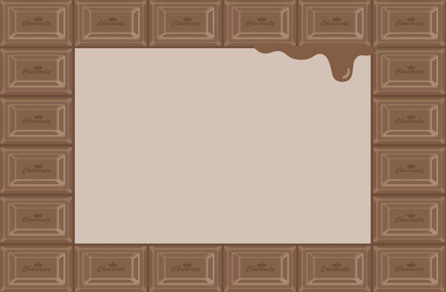 フリーイラスト 板チョコの飾り枠
