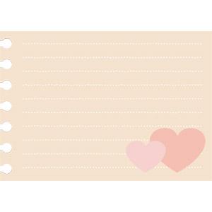 フリーイラスト, ベクター画像, AI, 背景, メモ用紙, 紙(ペーパー), ハート, 愛(ラブ)