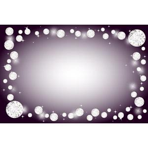 フリーイラスト, ベクター画像, AI, 背景, フレーム, 囲みフレーム, 宝石, ダイヤモンド, 輝き