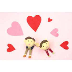 フリー写真, 人形, カップル, 恋人, ハート, 愛(ラブ), 見上げる(上を向く)