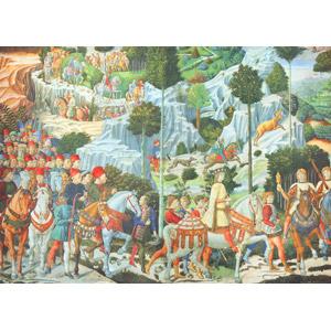 フリー絵画, ベノッツォ・ゴッツォリ, 宗教画, キリスト教, 新約聖書, 東方の三博士, 行進, 乗馬, 人込み(人混み), 狩猟(狩り)