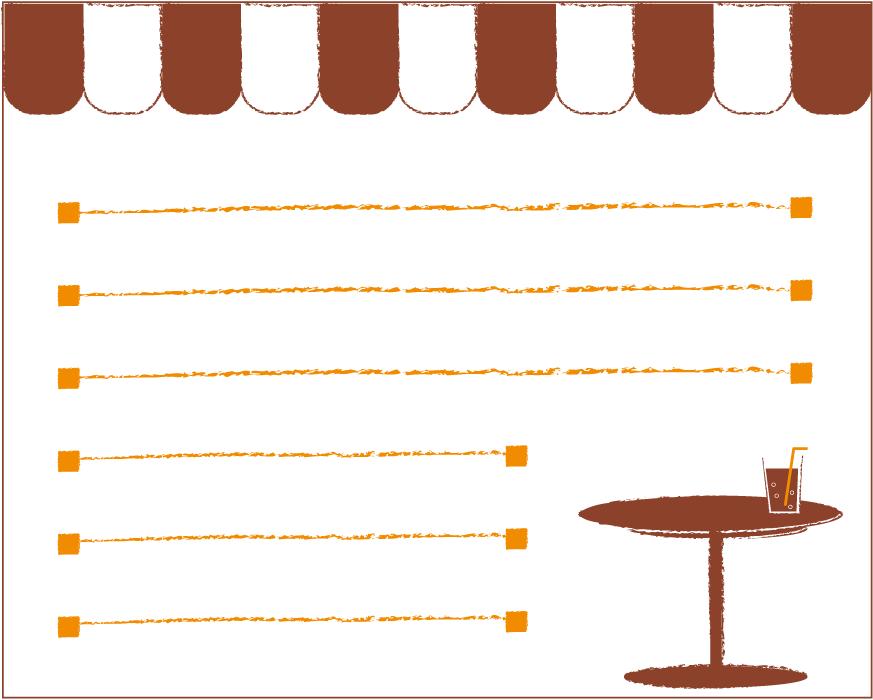 フリーイラスト カフェのメッセージカード