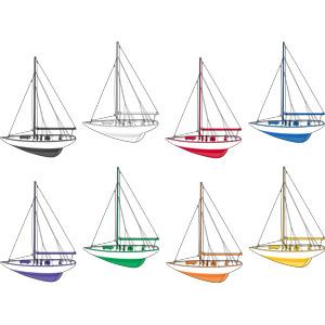 フリーイラスト, ベクター画像, EPS, 乗り物, 船, ヨット