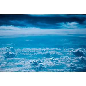 フリー写真, 風景, 自然, 雲, 雲海, 青色(ブルー)