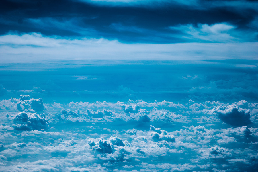 フリー写真 雲の絨毯