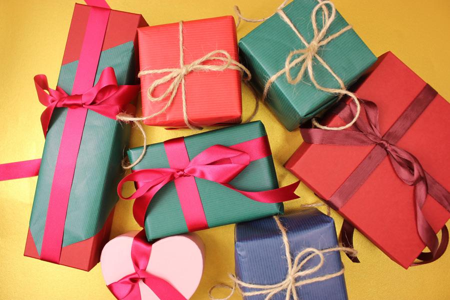 フリー写真 たくさんのプレゼント