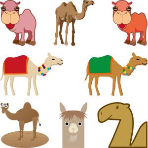 フリーイラスト, ベクター画像, AI, 動物, 哺乳類, ラクダ, 動物の顔