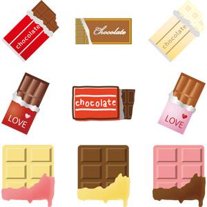 フリーイラスト, ベクター画像, AI, 食べ物(食料), 菓子, 洋菓子, チョコレート, 2月, 年中行事, バレンタインデー