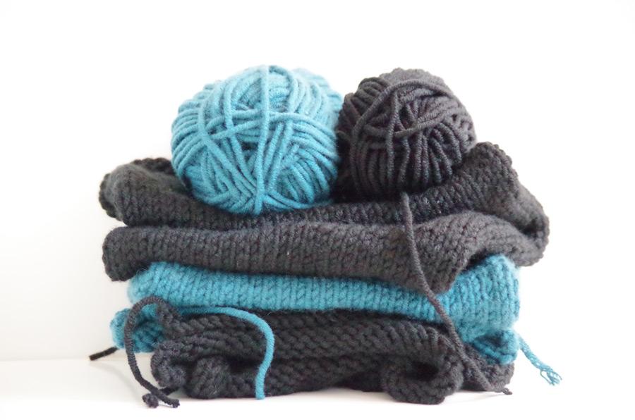 フリー写真 毛糸と編み物