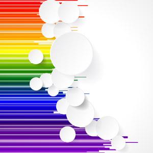 フリーイラスト, ベクター画像, AI, 背景, 抽象イメージ, 円形(サークル), カラフル, 縞模様(ストライプ)