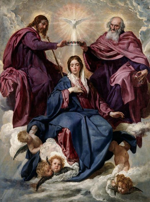 フリー絵画 ディエゴ・ベラスケス作「聖母戴冠」