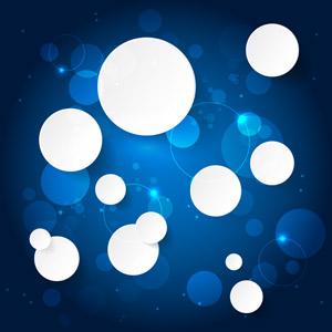 フリーイラスト, ベクター画像, AI, 背景, 抽象イメージ, 円形(サークル), 青色(ブルー)