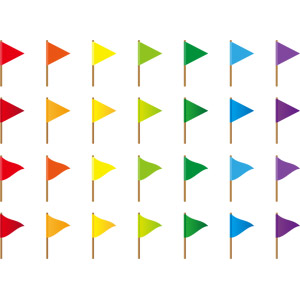 フリーイラスト, ベクター画像, AI, 旗(フラッグ), 旗(三角形), 目印
