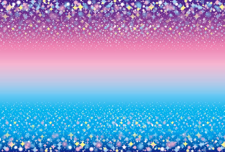 フリーイラスト 幻想的な星の背景
