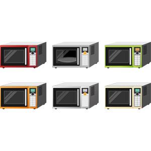 フリーイラスト, ベクター画像, AI, 家電機器, 調理器具, 電子レンジ