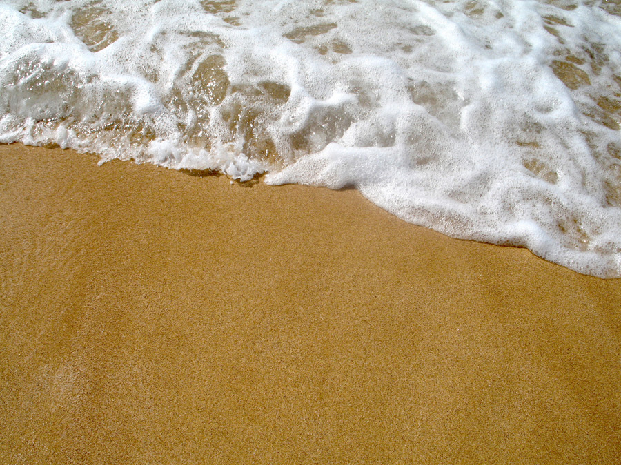 フリー写真 ハワイのサンセットビーチの風景