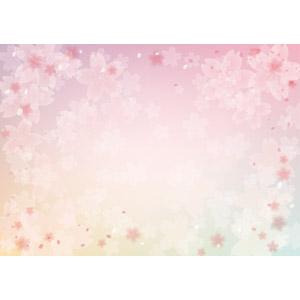 フリーイラスト, ベクター画像, EPS, 背景, 花, 桜(サクラ), 花びら, 春