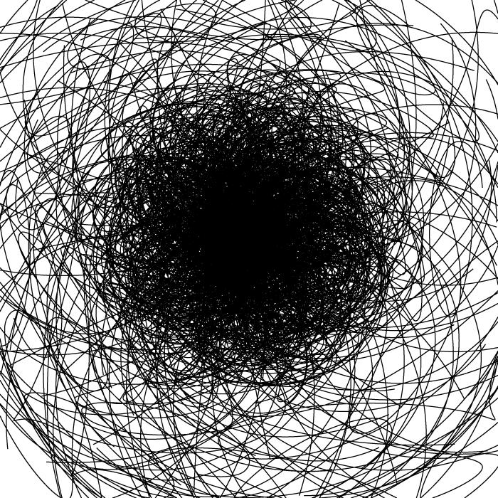 フリーイラスト 落書きのような黒い線の背景