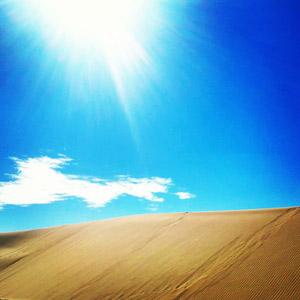 フリー写真, 風景, 自然, 青空, 砂丘, カザフスタンの風景, 太陽光(日光), 青空