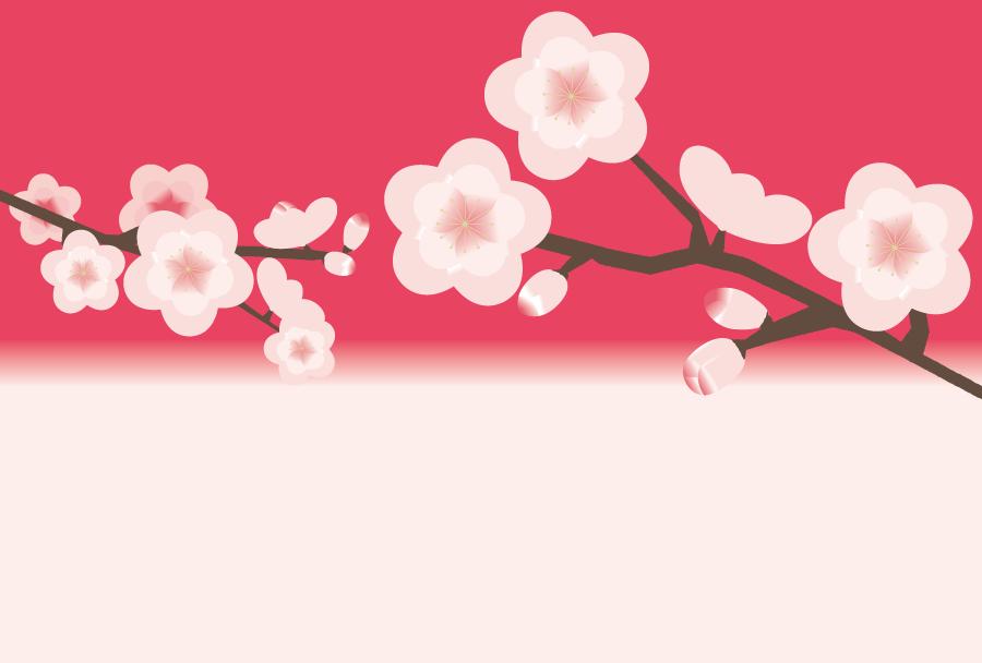 フリーイラスト 梅の花の背景