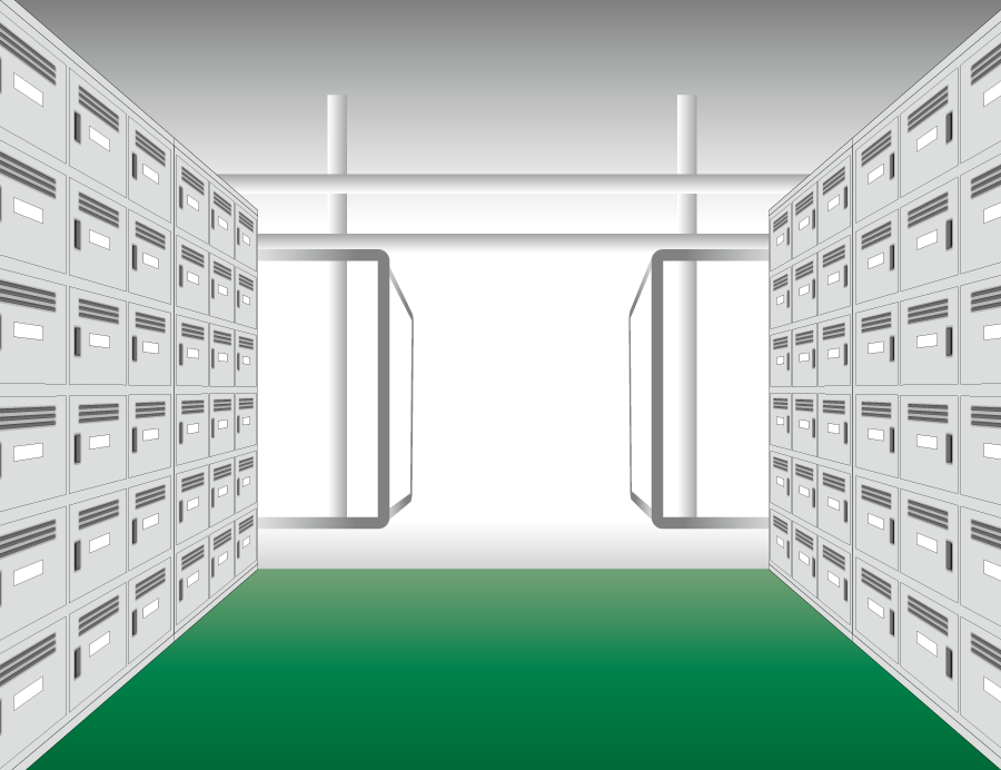 フリーイラスト 学校の下駄箱の背景