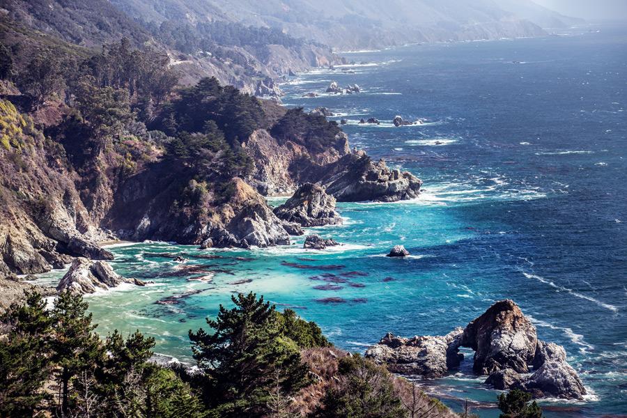 フリー写真 カリフォルニア州ビッグサーの海岸風景