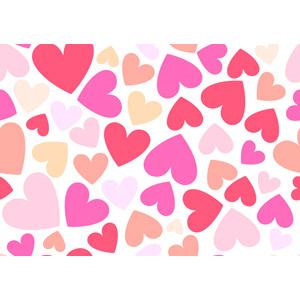 フリーイラスト, ベクター画像, AI, 背景, ハート, 2月, バレンタインデー
