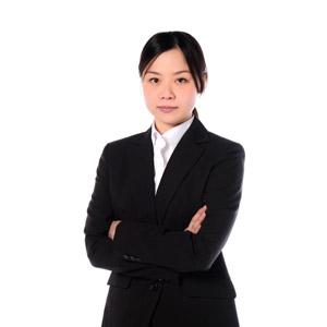 フリー写真, 人物, 女性, アジア人女性, 女性(00083), 日本人, ビジネス, 職業, 仕事, ビジネスウーマン, OL(オフィスレディ), レディーススーツ, 白背景, 腕を組む