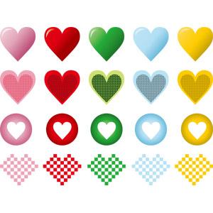 フリーイラスト, ベクター画像, AI, ハート, シンボル, 愛(ラブ), 2月, バレンタインデー