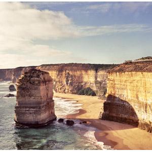 フリー写真, 風景, 自然, ビーチ(砂浜), 海, 崖, 海食柱, オーストラリアの風景, 十二使徒(ビクトリア州)