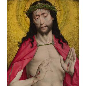フリー絵画, ディルク・ボウツ, 宗教画, キリスト教, 新約聖書, イエス・キリスト, いばらの冠, 傷, 血液