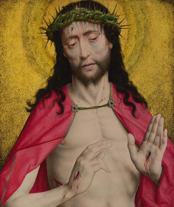 フリー絵画 ディルク・ボウツ作「荊冠のキリスト」