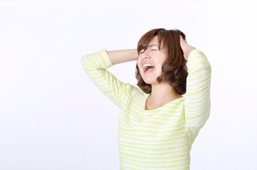 フリー写真 「あーやっちまったー」的な日本人女性
