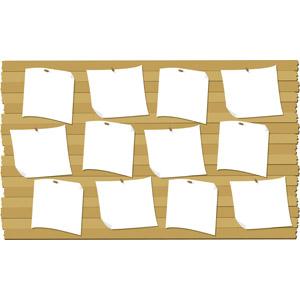 フリーイラスト, ベクター画像, EPS, 背景, 掲示板, 貼り紙, 紙(ペーパー)