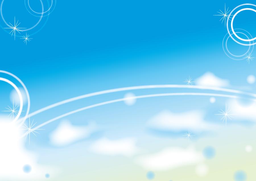フリーイラスト 青空と光の風景