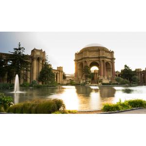 フリー写真, 風景, 建造物, 建築物, 池, アメリカの風景, サンフランシスコ