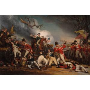 フリー絵画, ジョン・トランブル, 歴史画, 戦争, アメリカ独立戦争, 死, 乗馬, 武器, 刀剣, イギリス軍