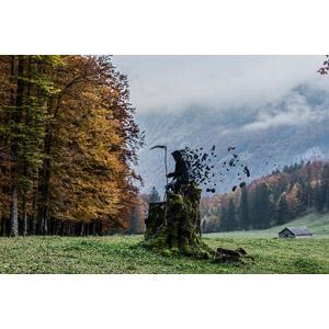 フリー写真, フォトレタッチ, 死神, 大鎌, 死, 田舎