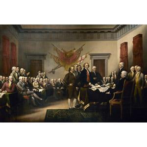 フリー絵画, ジョン・トランブル, 歴史画, アメリカ独立宣言, アメリカ独立戦争, 政治家