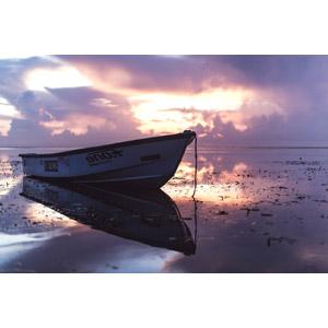 フリー写真, 風景, 夕暮れ(夕方), 乗り物, 船, ボート