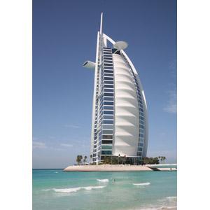 フリー写真, 風景, 建造物, 建築物, 高層ビル, ホテル, ブルジュ・アル・アラブ, ドバイ, アラブ首長国連邦の風景, 海