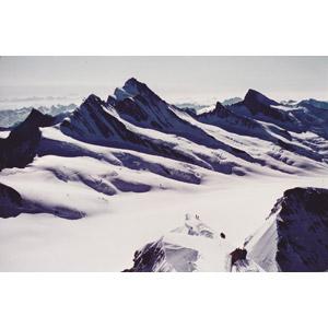 フリー写真, 風景, 自然, 山, 雪, 冬, アルプス山脈, スイスの風景, 登山, 人と風景