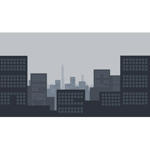 フリーイラスト, ベクター画像, SVG, 風景, 建造物, 建築物, 高層ビル, 都市, 街並み(町並み)