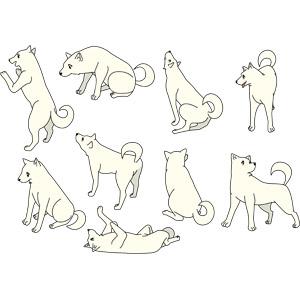 フリーイラスト, ベクター画像, EPS, 動物, 哺乳類, 犬(イヌ)